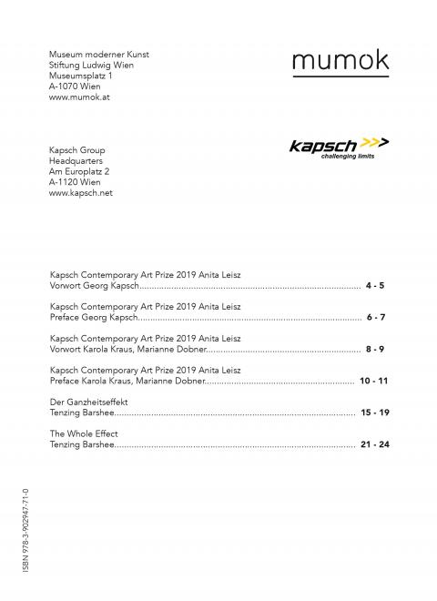 Katalog von Kapsch - Inhaltsverzeichnis