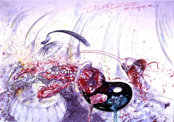 Christian Ludwig Attersee, »Gaumenjuchei«, 1976