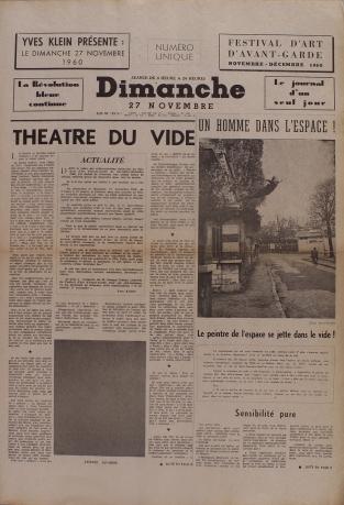Yves Klein, »Dimanche 27 Novembre 1960«, 1960