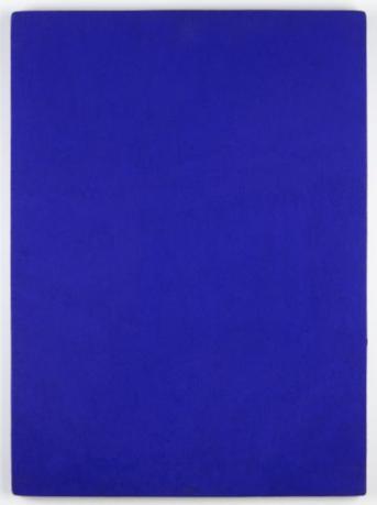 Yves Klein, »Monochrome Bleu« [Monochrom Blau], 1961