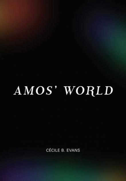 Schwarzes Buchcover mit weißer Schrift: Amo`s World