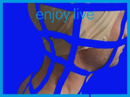 Kopf von Heimo Zobernig mit blauen Gitterlinien