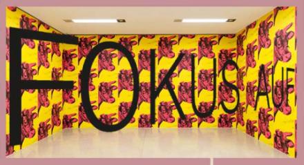 Kuhtapete von Andy Warhol