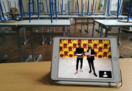 Tablet in Schulklasse