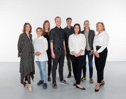 Ausstellungsproduktion Teamfoto