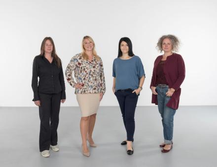Das teamfoto unserer Buchhaltungsabteilung