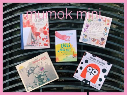 Fünf Cover von Kinderbüchern über Kunst oder Künstlerinnen
