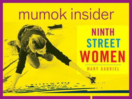 Gelbes Buchcover mit Titel: Ninth Street Women