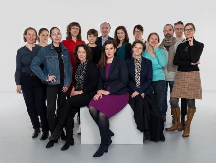 Das teamfoto unserer Sammlungsabteilung