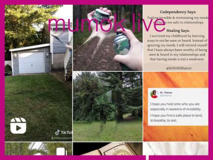 Handyansicht mit verschiedenen Fotos: Garten, Hand die von Sraydose eingefärbt wird