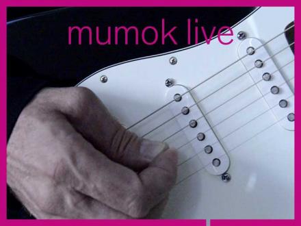 Eine Hand die eine E-Gitarre spielt